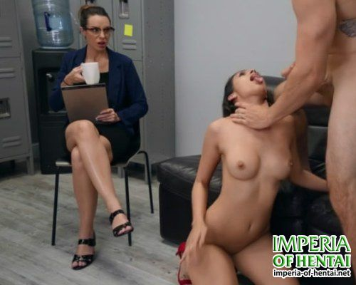 Katana fucked in front of an employee
