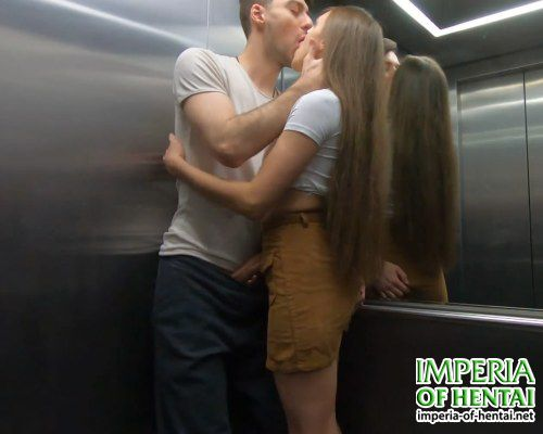Julia with a guy fucked in the elevator